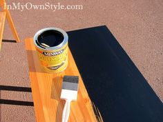 How to use Black Stain to paint over furniture instead of paint.