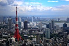 Tokyo Tower from Roppongi hills by 小梨怜 on PHOTOHITO Roppongi Hills, Tokyo Tower, Cn Tower, San Francisco Skyline, Building, Travel, Viajes, Buildings, Destinations