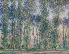 Topole w Giverny, 1887