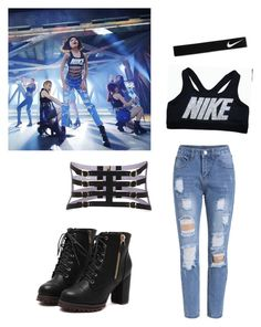"""""""Sooyoung """"You Think"""" inspired outfit"""" by shine199723 on Polyvore featuring Hervé Léger, NIKE, kpop, Snsd, GirlsGeneration and YouThink"""