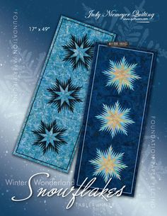 """Winter Wonderland Table Runners - Available from Quiltworx.com - A Judy Niemeyer Quilting Company. Shop for more patterns and quilting supplies on store.quiltworx.com.  This pattern makes two 17"""" x 49"""" quilts, the pattern cost is $18.00."""