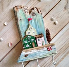 Wooden Key Holder Little House Key Hooks Miniature House Key Holder Key Rack Key Holder Key Hanger Driftwood Houses Wooden Houses Gift Mom