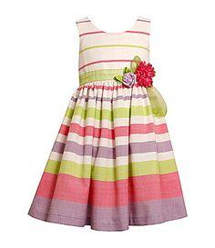 Bonnie Jean 716 and Plus Size Striped Dress #Dillards