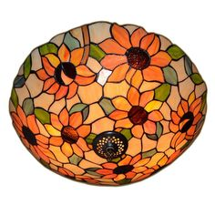 BYB Vintage Tiffany Style Flush Mount Light Chandelier Ceiling Lighting Lamp