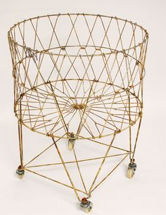 Hey, I found this really awesome Etsy listing at https://www.etsy.com/listing/196858280/vintage-french-wire-laundry-basket