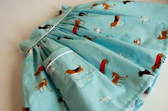 Aesthetic Nest: Sewing: Dog Skirt with Piped Pocket (Tutorial) - I like the piping idea.