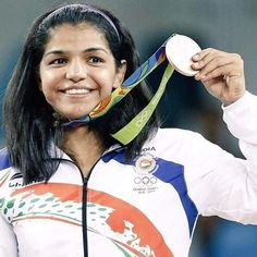 #smile of a #champion #winner #bronze #medal in #olympics #rio2016 #sakshi. #proud #indian. Well-done you #champ