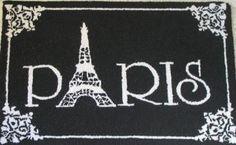 "Paris Home Decor - @Jaimie Ewoniak and @Kierra Phillips - how cute to use the tower as the ""A"" in Paris!"