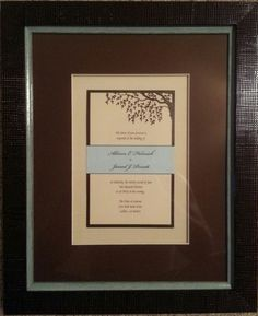 3956fbed471 It s wedding season! Let us help make your wedding invitation look it s best!  This wedding invitation is framed with two linen mats