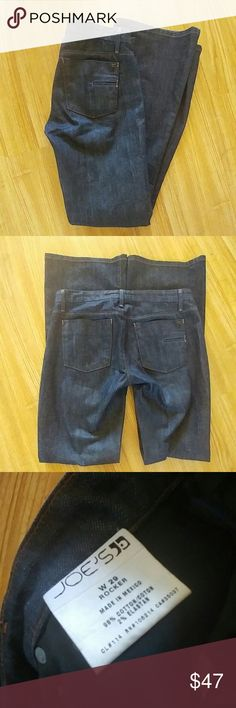 Joe's rocker jeans Made in Mexico NWOT never worn to big Color dark blue Joe's Jeans Pants Boot Cut & Flare