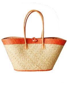 Raffia Woven Basket Bag