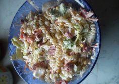 Tésztasaláta | Enikő Pozsonyi receptje - Cookpad receptek Pasta Salad, Potato Salad, Potatoes, Ethnic Recipes, Food, Crab Pasta Salad, Potato, Essen, Meals