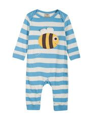 Frugi organic cotton charlie baby romper - with bee
