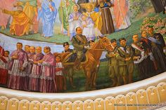 Why is Benito Mussolini Featured in a Church Fresco in Montreal?