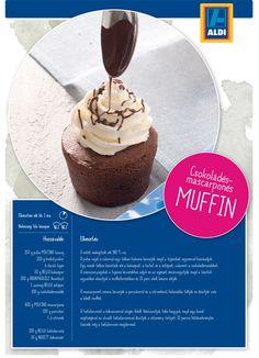 Csokoládés mascarponés muffin recept az ALDI-tól Muffin, Izu, Cheesecake, Food, Sweet Life, Cheesecakes, Essen, Muffins, Meals