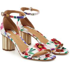 Salvatore Ferragamo Eraclea Printed Patent Leather Sandals (3066815 PYG) ❤ liked on Polyvore featuring shoes, sandals, multicolored, salvatore ferragamo shoes, patent sandals, ankle wrap shoes, multi color shoes and multi coloured shoes