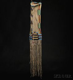 Cheyenne Beaded and Quilled Hide Pipe Bag
