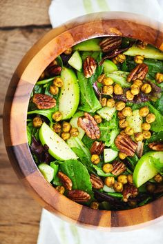 Curry Apple Salad with Spiced Chickpeas