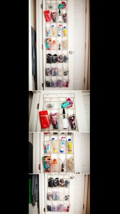 Great idea for organizing #shoerack #behinddoor #visible #clutterless #organized