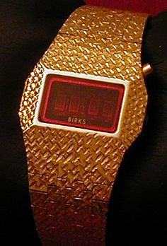 Birks LED Watch (3) Led Watch, Watches, Vintage, Wristwatches, Clocks, Vintage Comics