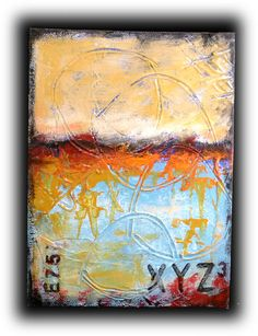 Original Abstract Mixed Media Art Painting by Jaime Byrd.