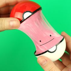 How to make DIY Pokemon Ditto slime. in this tutorial i show how i made this cute Pokeball from clear plastic ornament with Ditto slime inside.