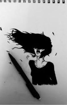 Screaming Girl - Sketching von Mellouki Ucef in My Scrapbook bei touchtalent 78912 - # Sad Drawings, Dark Art Drawings, Pencil Art Drawings, Art Drawings Sketches, Hipster Drawings, Realistic Drawings, Screaming Drawing, Screaming Girl, Sad Girl Drawing