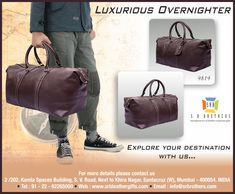 S R Brothers offer LUXURIOUS LEATHER TRAVEL BAG. Email us for your corporate gift requirements at info@srbrothers.com & Visit our website www.srbleathergifts.com #quality #srbrothers #corporategifts #travelbag #leatherbag #luxuriousleathertravelbag