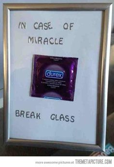 In case of miracle…