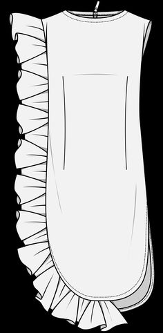 Wgsn ss19 silhouette ruffle dress