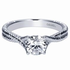 a204abf1a Diamond Engagement Ring - Valdosta GA White 14 Karat Twisted Shank  Engagement Mounting With Round Diamonds. Beeghly and Company Jewelers