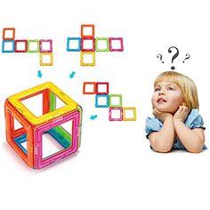 DIY 3D Magnetic Building Blocks Magnetic Tile Set Educational Toys Set for Kids Children.