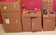 Cozinha em papelão