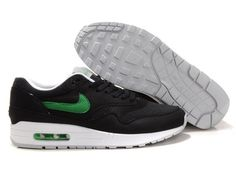 newest 7cf69 d2500 Shop Mens Nike Air Max 1 Black Victory Green White Shoes New 2013 Sneakers