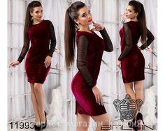 Бархатное платье - бордо