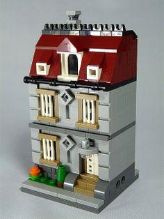 PDF guide instruction MOC Maison de ville Townhouse modulaire de LEGO Pierres