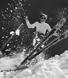 Women of the Winter Olympics: Amazing Athletes in Action: Fifteen-year-old Andrea Mead Lawrence, the first American alpine skier to win Olympic gold, training in George Silk—Time & Life Pictures/Getty Images Vintage Ski Posters, Time Pictures, Ski Season, Alpine Skiing, Winter Fun, Cosy Winter, Winter Christmas, Ski And Snowboard, Winter Olympics