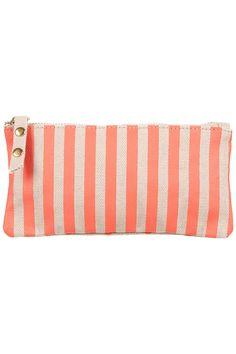 stripe & dot glasses case $16