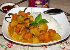 Vegetarisches Kürbis Curry - Cremig und lecker in den Herbst