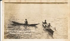 Small Samoan fishing canoes.  Photo  removed from a 1925 Sailors USS Oklahoma photo album.  No name anywhere.    The USS Oklahoma left San Francisco on 15 April 1925, arrived in Hawaii on 27 April, where they conducted war games. They left for Samoa on 1 July, crossing the equator on 6 July. On 27 July, they arrived in Australia and conducted a number of exercises there, before spending time in New Zealand, returning to the United States later that year.
