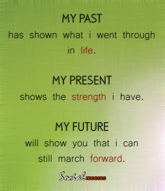 My past has show what i went through in life,
