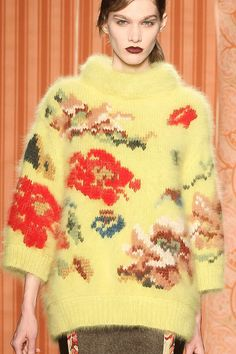 Antonio Marras F/W '13 | duplicate stitch and intarsia knitting | gorgeous