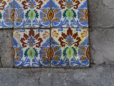 Azulejos (Mexican tiles), Colonia Guerrero, Mexico City