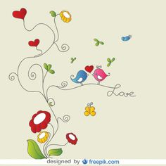 Happy Birthday wish on cute illustration of little birds in love. Birthday Greetings For Facebook, Happy Birthday Tag, Birthday Tags, Happy Birthday Images, Birthday Pictures, Birthday Quotes, Little Birds, Love Birds, Happy B Day