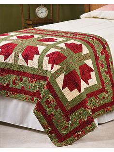 This pretty bed warmer will add a bit of cheer and color to any bedroom. Repeating roses create the look of a formal rose garden. This e-pattern was originally published in the Quilter's World special publication Fresh Cut Quilts from the Garden.