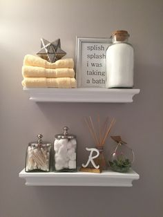 Bathroom Remodel On A Budget The New Thirty Something Bathroom Shelf Decor Bathroom Shelves Decorating Bathroom Shelves