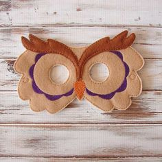 Felt Owl Mask Animal Kids Mask Costume Dress by AnnsCraftHouse