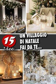 A DIY Christmas village to bring some magic to your home! Diy Christmas Village, Christmas 2019, Christmas Ornaments, Christmas Ideas, Hobbies That Make Money, Great Hobbies, Hobbies Creative, Hobby World, Motif Design