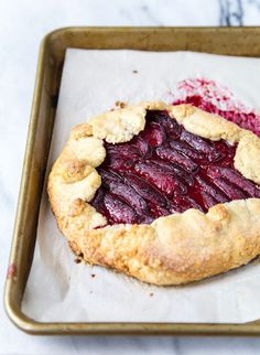 Plum Tart for Two with almond filling! @dessertfortwo