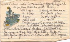 """The recipe card you see in this picture is the actual handwritten recipe card still used. My grandmother wrote on this card more than 35 years ago, so the edges are little """"love worn""""."""
